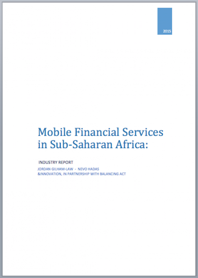 Telecoms 816 - Mobile Financial Services in Sub-Saharan Africa Cover