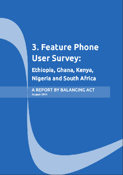 The Impact of Internet and Social Media on Communications in Africa a Feature Phone User Research Survey